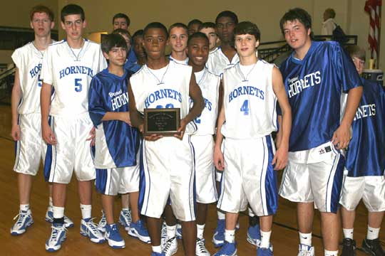 The Bryant Hornets freshman team finished as the runner-up in the Bryant Invitational tournament. (Photo by Rick Nation)