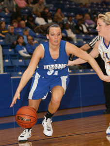 Bryant's Kenzee Calley starts a drive past North Little Rock's Helen Olsen.