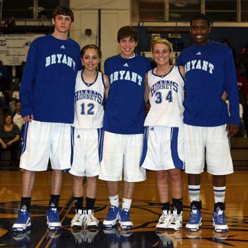 Bryant High School's seniors, from left, Tim Floyd, Taylor Hughes, Cameron Whaley, Anna Simpson and Dijon Benton.