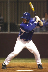 Kaleb Jobe was on base three times for the Hornets against Sheridan.