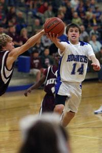 Brantley Cozart drives to the hoop.