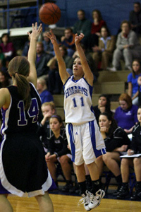Haley Montgomery scored 16 points off the bench for Bryant.