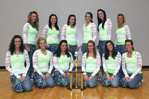 Former Bryant High School dancers make up 3/4 of the UCA Honeybears squad.