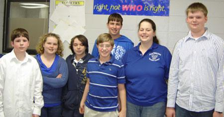 The Bryant High School freshman Quiz Bowl team.
