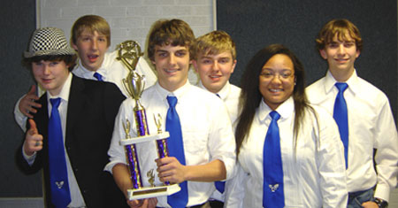 The Bryant Middle School seventh and eighth grade Quiz Bowl team.