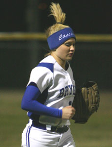 Cassidy Wilson had two hits for the Lady Hornets on Monday.