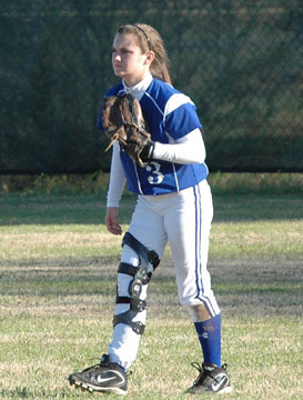 Bryant senior Paige Turpin patrols center field. (Photo courtesy of Mark Hart)