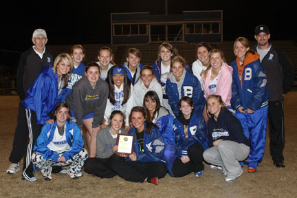 The Bryant Lady Hornets captured the team title at their home meet on Thursday. (Photo by Rick Nation)
