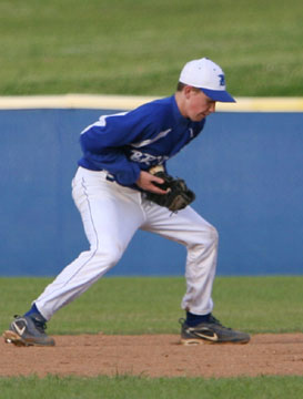 Second baseman Tyler Brown. (Photo by Rick Nation)