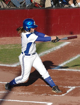Jessie Taylor blasted a grand slam in Bryant's 8-5 win over the Owensboro, Ky., Catholic Aces. (Photo by Mark Hart)