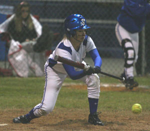 Cassidy Wilson gets a sacrifice bunt down