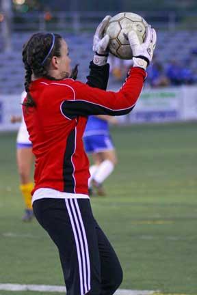 Bryant goal-keeper Megan Childress. (Photo by Misty Platt)