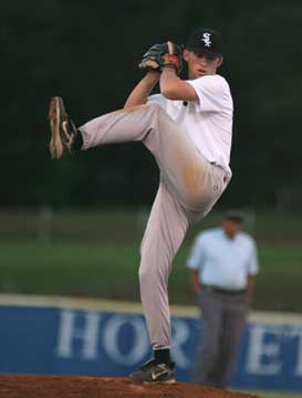 Justin Blankenship threw two shutout innings of relief. (Photo by Rick Nation)