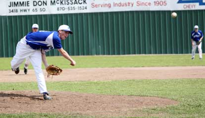 Jordan Taylor delivers a pitch during Saturday's championship game. (Photo by Phil Pickett)