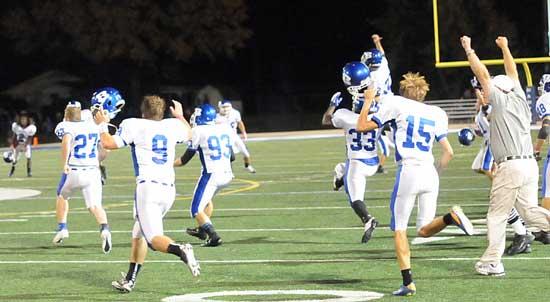 Bryant celebrates its victory. (Photo by Kevin Nagle)
