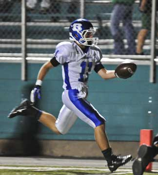 Hayden Daniel scores on a play that was called back due to penalty. (Photo by Ron Boyd)