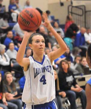 Bryant Blue's Kailey Nagle puts up a shot. (Photo by Kevin Nagle)