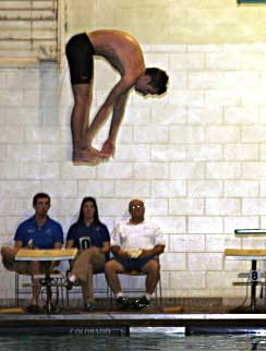 Jordan Combs compete in the diving competition Tuesday. (Photo courtesy of Julia Combs)