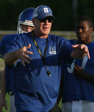 Bryant defensive coordinator Steve Griffith. (Photo by Rick Nation)