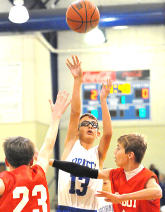 Brandon Hill takes a shot for Bryant White. (Photo by Kevin Nagle)
