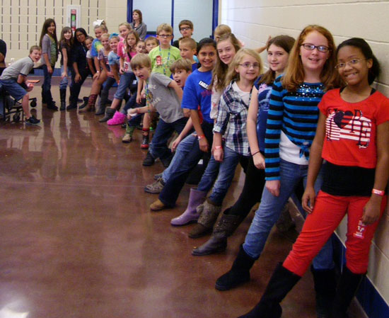 The Springhill Elementary fifth graders celebrated Red Ribbon Week