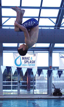 Justin Savage was one of four Hornets to score in the diving competition. (Photo courtesy of Julie Combs)