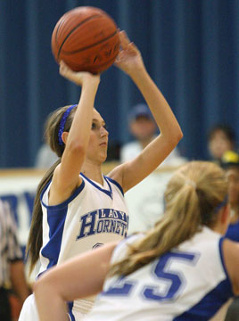 Kailey Nagle attempts a free throw. (Photo by Rick Nation)
