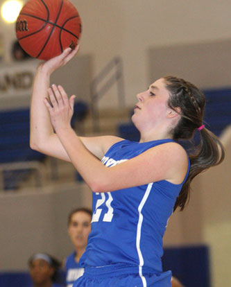 Bryant's Courtney Davidson had 14 points and 18 rebounds against North Little Rock Thursday. (Photo by Rick Nation)