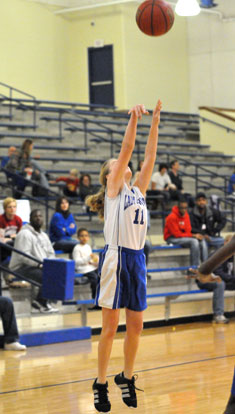 Reagan Blend fires up a jumper. (Photo by Kevin Nagle)