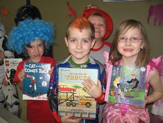 Sophie Neely, Ryan Norris, Dawson Tyler and Christian Fulmer show their favorite books.