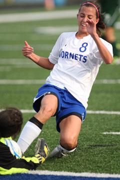 Shelby Gartrell attacks the Van Buren keep. (Photo by Rick Nation)