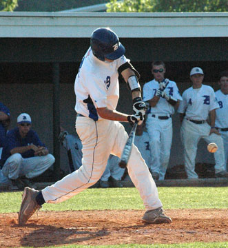 Dylan Cross had two hits for the Hornets Tuesday. (Photo by Kevin Nagle)