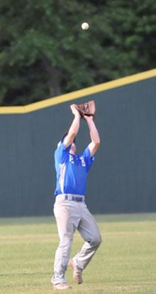 Shortstop Trevor Ezell sets up under a pop into shallow left. (Photo by Kevin Nagle)