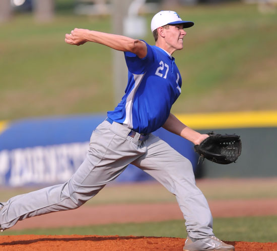 Nate Rutherford allowed two hits over five innings. (Photo by Kevin Nagle)