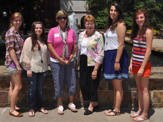 From left, Ashton Eley, Lilah Sledge, Tara Seale, Pat Harris, Whitney Meyer, and Emily Roberts.