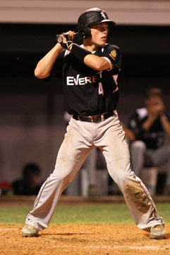 Trevor Ezell had two hits for the Sox. (Photo by Rick Nation)