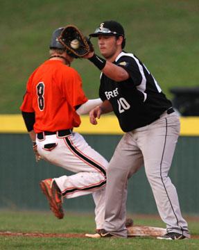 Bryant first baseman Cody Gogus. (Photo by Rick Nation)