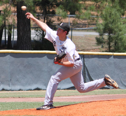 Tryce Schalchlin allowed one run over the final 7 2/3 innings. (Photo by Phil Pickett)