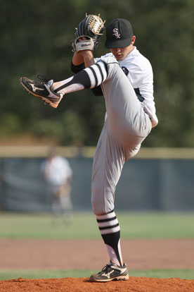 Tyler Nelson delivered 8 1/3 innings of solid pitching. (Photo by Rick Nation)