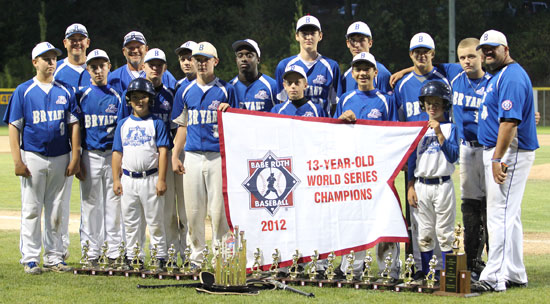 The World Series champion Bryant 13-year-old All-Stars. (Photo courtesy of Teresa Smith, Northwest Sports Photography)