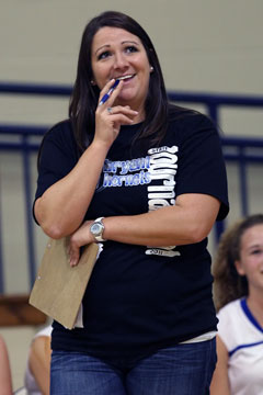 Freshman Lady Hornets coach Julie Long (Photo by Rick Nation)