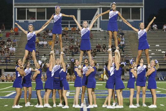The Bryant freshman cheerleaders. (Photo by Rick Nation)