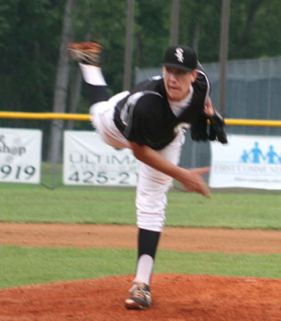 Nate Rutherford pitched into the ninth.