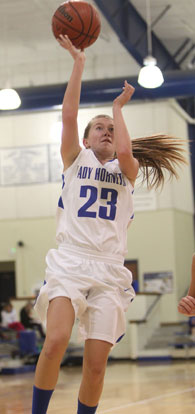 Kendal Rogers led Bryant with 7 points. (Photo by Rick Nation)