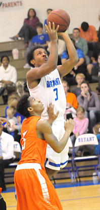 C.J. Rainey goes up for a shot. (Photo by Kevin Nagle)
