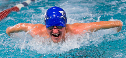 Jim Dellorto was second in the individual medley. (Photo courtesy of Marianne Shelton)
