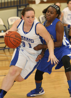 Carolyn Reeves drives past a North Little Rock defender. (Photo by Rick Nation)