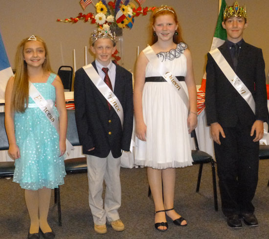 Cotillion Court 2013, from left, Princess Kate Weston, Prince Gary Storment, Queen Riley Wells, and King Sabin Jewett.