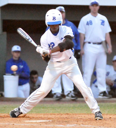 Marcus Wilson had an RBI single in the first inning of Thursday's win. (Photo by Kevin Nagle)