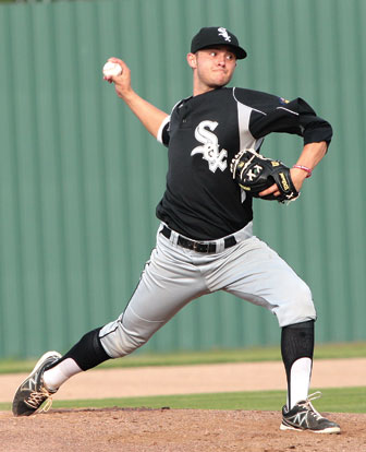 Tyler Nelson tossed a two-hit shutout in Tuesday's opener. (Photo courtesy of Mike Adam)